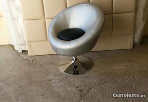 Cadeirao cinza/preto