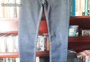Calças de Ganga Stradivarius, tamanho 34