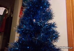 Árvore Natal Azul 1.15m, dá luz
