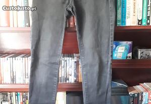 Calças de Ganga Stradivarius, tamanho 36