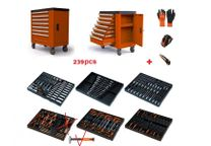 Carro de ferramentas 7 gavetas c/armário lateral