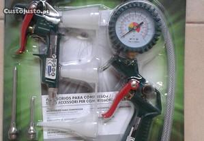 Pistola de Enchimento de Pneus c/ Muitos Acessório