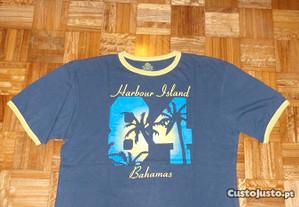 T-shirt de homem azul CS Active Harbour Island