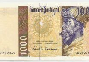 Espadim - Nota de 1.000$00 de 1998 - Nova