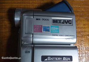 Câmara de filmar JVC.