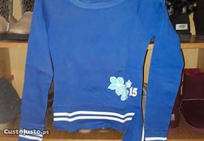 camisola desportiva em algodão azul, com nº 15
