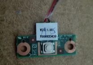 Placa Botão ON/OFF Toshiba Satellite L300 - Usada