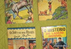 Livros da colecçao OS SETE de Enid Blyton