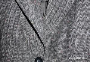 Casaco de Fazenda cinza Tweed Pull&Bear tamanho S
