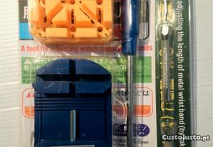 Kit de ferramentas reparação relógios 7 peças