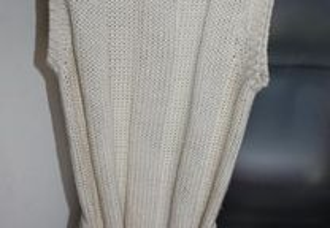 Vestido de lã acrílico cor de champagne BLANCO T S