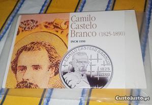 Moeda bnc prata Camilo Castelo Branco
