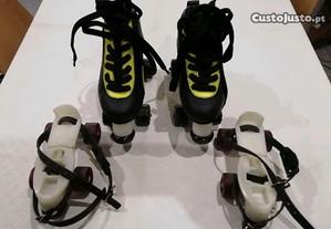 Patins de hoquei patins e base extinsivel