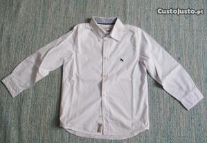Camisa branca nova 116cm 5/6 anos