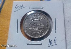 Moeda 10 escudos Timor