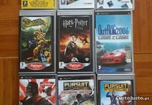 Jogos PSP e 2 filmes PSP a bom preco!