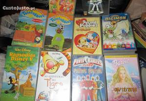 10 Cassetes VHS - desenhos animados
