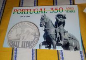 Moeda Portugal 350 anos Rest. Independência