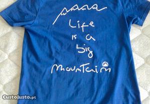 T-shirt Berg azul, original, como nova