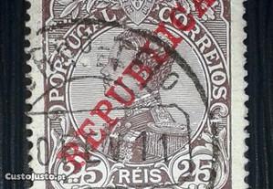 Stamp King D.Manuel II (1910) with error