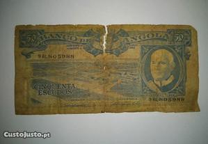 Nota de Angola Ultramar 50 Escudos 10.06.1962