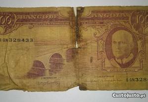 Nota de Angola Ultramar 100 Escudos 10.06.1962