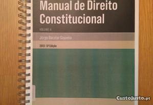 Jorge Bacelar Gouveia Manual Direito Constituciona