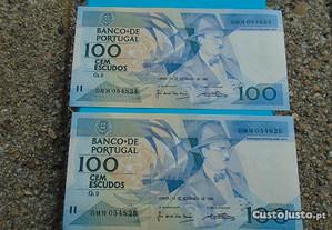 Notas RARAS 100 Escudos
