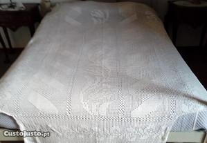 colcha para cama de solteiro de renda