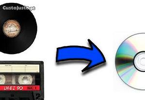 Conversão vinil (discos) / cassete para CD ou mp3