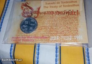 Moeda bnc Tratado de Tordesilhas