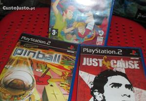 3 jogos PlayStation 2-Pinball. Just cause, Peter P