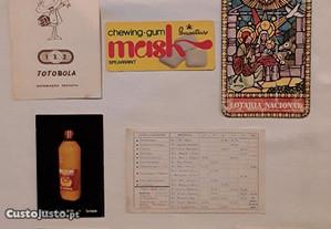 Calendários de bolso anos 80