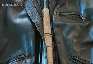 Blusão preto pele genuína XL