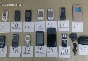 telemóveis - vários - para peças