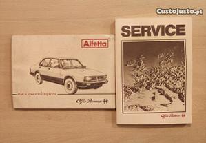 Alfa Romeo Alfetta - Manual de Proprietário