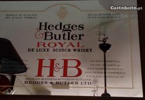 Publicidades espelhados com moldura vintage whisky