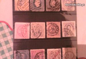 lote 12 selos clássicos monarquia