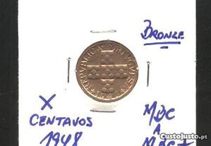 Espadim - Moeda de X Cent. de 1948 - Mbc a Mbc+