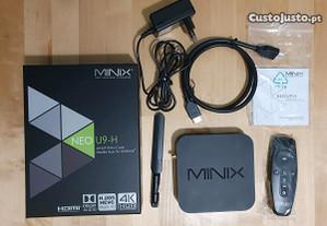 Box Smart TV MINIX Neo U9-H em excelente estado