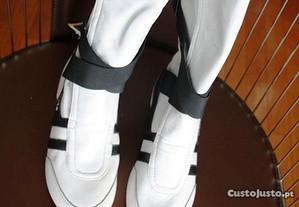 Botas de cano alto em pele brancas GOLA NOVAS t.36