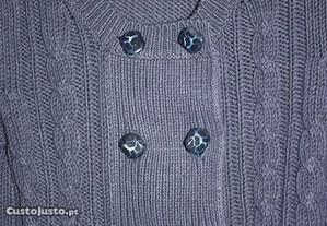 Casaco algodão e acrílico azul marinho ZARA T. S