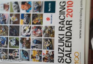 Antigo calendário sobre as motos suzki
