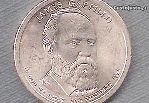Moeda USA - Dollar 20 Presidente James Garfield