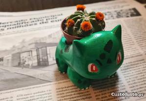 Vaso do Pokemon Bulbasaur - pintado à mão (novo)
