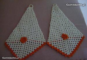 Peças decoração em croché