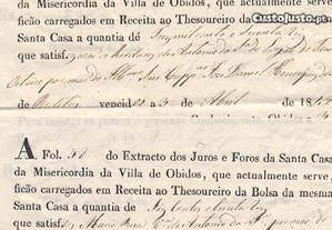 Extracto dos Juros e Foros da SCM de Óbidos