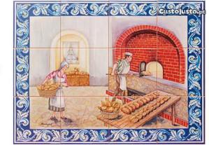 Painel de Azulejos Padaria Tradicional Imagem Pão