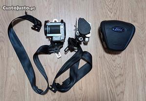 Airbag volante e cintos Ford Courier