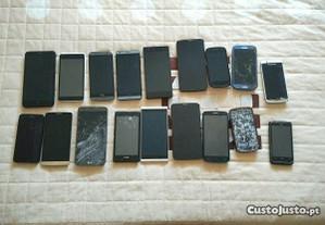 Lote de smartphones para peças ou reparação